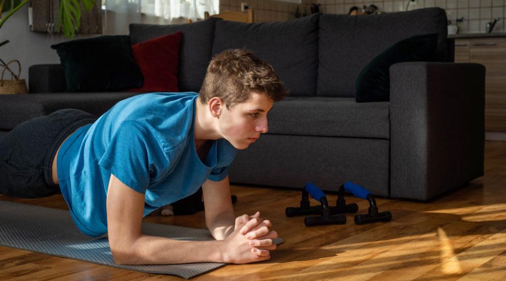 ragazzo con fibrosi cistica workout